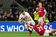 Twickenham, England, 7th March 2020, Ben YOUNGS, on an attacking break, during the Guinness Six Nations, International Rugby, England vs Wales, RFU Stadium, United Kingdom, [Mandatory Credit; Peter SPURRIER/Intersport Images]