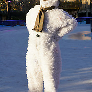 On the coldest week of the year, The Snowman takes to the ice at the Natural History Museum Ice Rink. The show is currently on at the Peacock Theatre on 30th November 2016, London,UK. Photo  by See Li