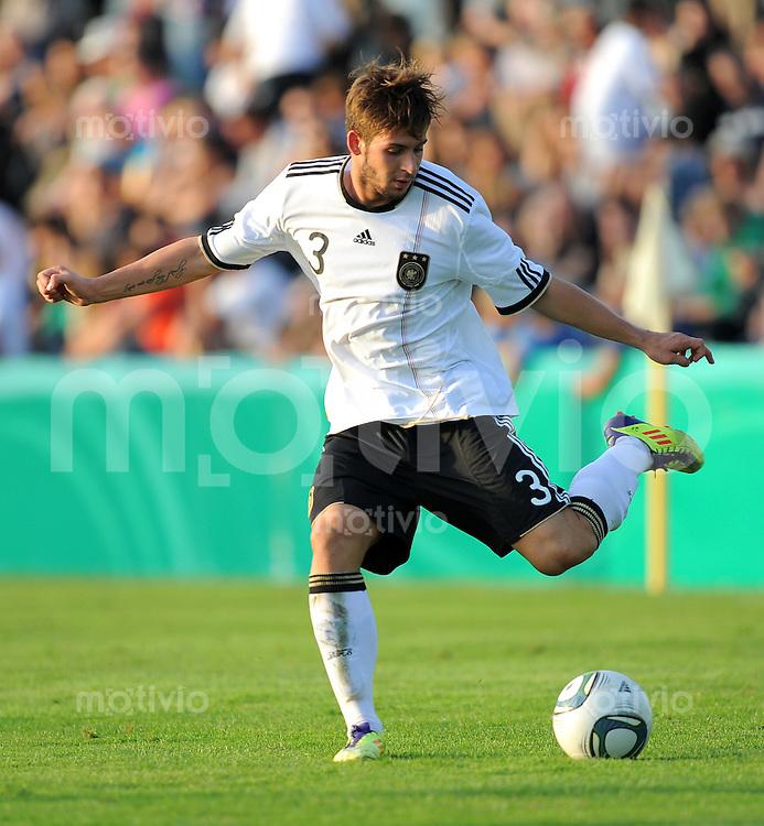 FUSSBALL INTERNATIONAL   Freundschaftsspiel U 20   31.08.2011 Deutschland - Polen Marvin Plattenhardt (Deutschland)
