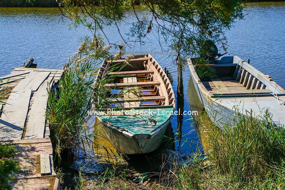 Boat ride at the Delta of Evros river, Thrace (Thraki), Greece.