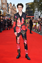 Timothee Chalamet attending the Beautiful Boy Premiere as part of the BFI London Film Festival at the Cineworld Leicester Square, London.