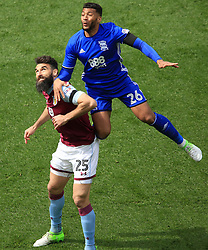 23 April 2017 - EFL Championship Football - Aston Villa v Birmingham City - Mile Jadinak of Aston Villa and David Davis of Birmingam City battle for he ball - Photo: Paul Roberts / Offside