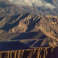 Arid, rain-shadowed hiss stretch north of the Annapurna Massif in Nepal.