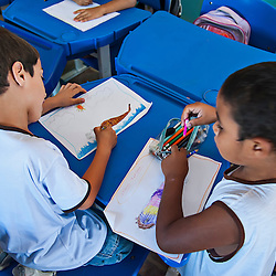 Atividade de sensibilização ambiental em escola publica, realizado pelo Instituto Últimos Refúgios