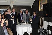TOM WATSON; HOWARD MARKS; BERNIE KATZ, The 2011 Groucho Club Maverick Award. The Groucho Club. Soho, London. 14 November 2011. <br /> <br />  , -DO NOT ARCHIVE-© Copyright Photograph by Dafydd Jones. 248 Clapham Rd. London SW9 0PZ. Tel 0207 820 0771. www.dafjones.com.