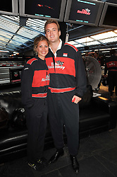 HOLLY BRANSON and FRED ANDREWS at an evening of go-karting hosted by Tag Heuer at Docklands Raceway, 3 Herringham Road, London SE7 on 16th June 2010.