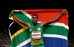 South Africa's Caster Semenya celebrates winning the Women's 800m Final at the Carrara Stadium during day nine of the 2018 Commonwealth Games in the Gold Coast, Australia.