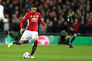 Chris Smalling of Manchester Utd in action. EFL Cup Final 2017, Manchester Utd v Southampton at Wembley Stadium in London on Sunday 26th February 2017. pic by Andrew Orchard, Andrew Orchard sports photography.