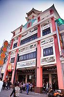 Beautiful old qilou line the streets of Shang Jia Lu in Guangzhou.