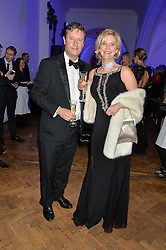 PHILIP & CASSANDRA BASSETT at the Sugarplum Dinner in aid Sugarplum Children a charity supporting children with type 1 diabetes and raising funds for JDRF, the world's leading type 1 diabetes research charity held at One Marylebone, London on 18th November 2015.