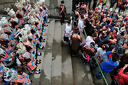 """People of Dong ethnic group greet guests by blocking the way at Meilin Village in Meilin Township under Dong Autonomous County of Sanjiang, south China's Guangxi Zhuang Autonomous Region, March 10, 2016. People of Dong ethnic group attend a local song festival to greet the coming of Er Yue Er, or the second day of the second month on the Chinese lunar calendar, which falls on March 10 this year. Chinese people call it the day when the """"dragon raises its head"""", which means the spring awakens after winter hibernation. EXPA Pictures © 2016, PhotoCredit: EXPA/ Photoshot/ Liang Kechuan<br /> <br /> *****ATTENTION - for AUT, SLO, CRO, SRB, BIH, MAZ, SUI only*****"""