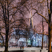 t is snowing in Trondheim and the mood is perfect. Tonight I made a vertical panorama from 10 pictures. It was really one of the most difficult pictures that I ever made but I am happy with the result :)