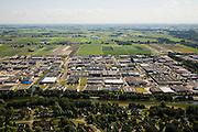 Nederland, Noord-Holland, Broek op Langedijk, 14-07-2008; Gemeente Langedijk; zicht op het bedrijventerrein Zandhorst (Broekhornpolder), aantasting van het landschap van de Polder Heerhugowaard; verrommeling, verpaupering van het landschap; bedrijvenloods, doos, dozen, bedrijfshal. .luchtfoto (toeslag); aerial photo (additional fee required); .foto Siebe Swart / photo Siebe Swart