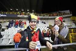 November 14, 2017 - Brugge, BELGIUM - Belgium's supporters arive in stands for a friendly soccer game between Belgian national team Red Devils and Japan, Tuesday 14 November 2017, in Brugge...BELGA PHOTO BRUNO FAHY (Credit Image: © Bruno Fahy/Belga via ZUMA Press)