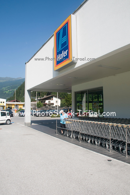 Hofer (Aldi) discount supermarket Photographed in Austria
