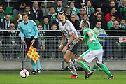 Zlatan Ibrahimovic Forward of Manchester United during the Europa League match between Saint-Etienne and Manchester United at Stade Geoffroy Guichard, Saint-Etienne, France on 22 February 2017. Photo by Phil Duncan.