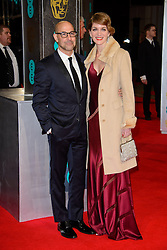 Stanley Tucci and Felicity Blunt attend the EE British Academy Film Awards in 2014. The Royal Opera house, London, United Kingdom. Sunday, 16th February 2014. Picture by Chris Joseph / i-Images