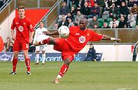 Photo: Daniel Hambury.<br /> Milton Keynes Dons V Bristol City.<br /> Coca Cola League One.<br /> 09/04/2005.<br /> Bristol City's Leroy Lita scores the equaliser.
