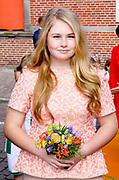 Koningsdag 2018 in Groningen / Kingsday 2018 in Groningen.<br /> <br /> Op de foto: Prinses Amalia  ///  Princess Amalia