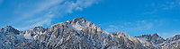 Panoramic view of Lone Pine Peak and Mount Whitney, Sierra Nevada Mountains, California
