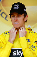 Podium, Geraint Thomas (GBR - Team Sky) Yellow jersey during the 105th Tour de France 2018, Stage 15, Millau - Carcassonne (181,5 km) on July 22th, 2018 - Photo Luca Bettini / BettiniPhoto / ProSportsImages / DPPI