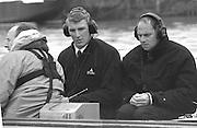 © Peter Spurrier Sports Photo<br /> email - pictures@rowingpics.com<br /> Tel:+44 (0) 7973 819 551<br /> Photo: Peter Spurrier<br /> 02/03/2001<br /> 2001 Varsity Boat Race - Championship Course - Putney to Mortlake.<br /> Matt Pinsent (L) and Steven Redgrave working for BBC TV.<br /> <br /> <br />  <br /> <br /> <br /> <br /> <br /> <br /> <br /> <br /> <br /> <br /> <br /> Salesi Finau [Mandatory Credit; Peter SPURRIER/Intersport Images]<br /> <br /> 20010324 University Boat Race, Putney to Mortlake, London, Great Britain.