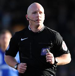 Match Referee Simon Hooper - Photo mandatory by-line: Harry Trump/JMP - Mobile: 07966 386802 - 21/02/15 - SPORT - Football - Sky Bet League One - Yeovil Town v Gillingham - Huish Park, Yeovil, England.