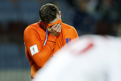 Vincent Janssen of Holland during the FIFA World Cup 2018 qualifying match between Belarus and Netherlands on October 07, 2017 at Borisov Arena in Borisov,  Belarus