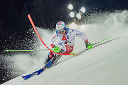 """29.01.2019, Planai, Schladming, AUT, FIS Weltcup Ski Alpin, Slalom, Herren, 1. Lauf, im Bild Luca Aerni (SUI) // Luca Aerni of Switzerland in action during his 1st run of men's Slalom """"the Nightrace"""" of FIS ski alpine world cup at the Planai in Schladming, Austria on 2019/01/29. EXPA Pictures © 2019, PhotoCredit: EXPA/ Dominik Angerer"""