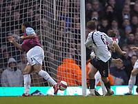 Photo: Olly Greenwood.<br />West Ham United v Tottenham Hotspur. The Barclays Premiership. 04/03/2007. Spurs Teemu Tianio scores