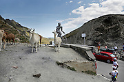 at the top of Col du Tourmalet, Bareges, France
