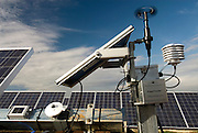 Meteorological station. PowerTracker system senses sun movement based on this device and moves solar panels from eastwards to westwards orientation.