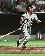 Detroit Tiger Kirk Gibson during game action against the Kansas City Royals at Kauffman Stadium in Kansas City, Missouri in 1994.