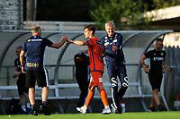Fotball , Eliteserien<br /> 12.07.2021 , 20210712<br /> Grorud - Aalesund<br /> Aalesunds trener Lars Arne Nilsen og matchvinner Sigurd Hauso Haugen <br /> Foto: Sjur Stølen / Digitalsport