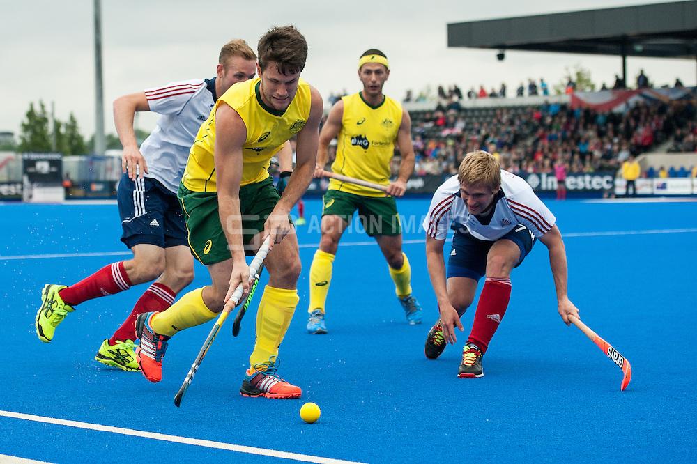 Great Britain v Australia, Lee Valley Hockey & Tennis Centre, London, UK on 13 June 2015. Photo: Simon Parker
