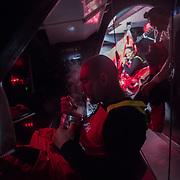 Leg 3, Cape Town to Melbourne, day 14, Xabi Fernandez on board MAPFRE. Photo by Jen Edney/Volvo Ocean Race. 23 December, 2017.