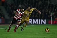 Football - 2016 / 2017 Premier League - Southampton vs. Tottenham Hotspur<br /> <br /> Southampton's Nathan Redmond tussles with Moussa Dembele of Tottenham Hotspur at St Mary's Stadium Southampton England<br /> <br /> COLORSPORT/SHAUN BOGGUST