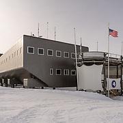 South Pole Station main entrance