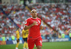 MOSCOW, June 23, 2018  Wahbi Khazri of Tunisia competes during the 2018 FIFA World Cup Group G match between Belgium and Tunisia in Moscow, Russia, June 23, 2018. (Credit Image: © Wu Zhuang/Xinhua via ZUMA Wire)