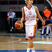 Galatasaray's Isil ALBEN during their woman Euroleague group C matchday 9 Galatasaray between Halcon Avenida at the Abdi Ipekci Arena in Istanbul at Turkey on Wednesday, January 12 2011. Photo by TURKPIX