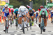 Sprint for Peter Sagan (SVK - Bora - Hansgrohe) - Alexander Kristoff (NOR - UAE Team Emirates) - Arnaud Demare (FRA - Groupama - FDJ) during the 105th Tour de France 2018, Stage 13, Bourg d'Oisans - Valence (169,5 km) on July 20th, 2018 - Photo Luca Bettini / BettiniPhoto / ProSportsImages / DPPI