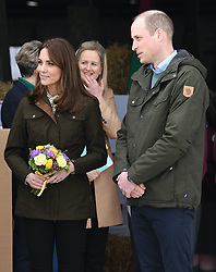 The Duke and Duchess of Cambridge visit Teagasc Research Farm and speak to farmers and school children, on the second day of their three day visit to Ireland, in County Meath, Ireland, on the 4th March 2020. 04 Mar 2020 Pictured: Catherine, Duchess of Cambridge, Kate Middleton, Prince William, Duke of Cambridge. Photo credit: James Whatling / MEGA TheMegaAgency.com +1 888 505 6342