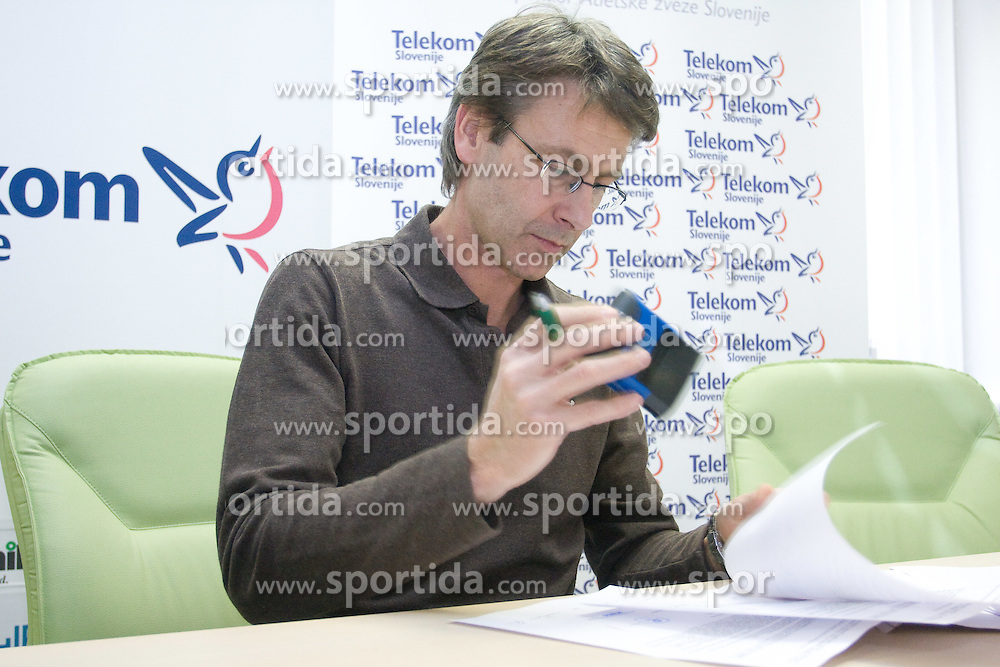 Albert Soba when Slovenian athletes and their coaches sign contracts with Athletic federation of Slovenia for year 2009,  in AZS, Ljubljana, Slovenia, on March 2, 2009. (Photo by Vid Ponikvar / Sportida)