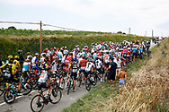 Sabotaged by protesting farmers , peloton, during the 105th Tour de France 2018, Stage 16, Carcassonne - Bagneres de Luchon (218 km) on July 24th, 2018 - Photo Luca Bettini / BettiniPhoto / ProSportsImages / DPPI