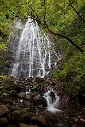 Waihee Falls; Kaneohe; Oahu; Hawaii