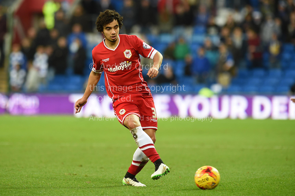 Fabio Da Silva of Cardiff city in action. Skybet football league championship match, Cardiff city v Brentford at the Cardiff city stadium in Cardiff, South Wales on Saturday 20th December 2014<br /> pic by Andrew Orchard, Andrew Orchard sports photography.