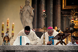 May 1, 2019 - Hejnice, Czech Republic - Legnic's  Mons. Marek Mendyk of Poland during the International Pilgrimage of Reconciliation, Holly Mass at Parish and pilgrimage church in Hejnice near Liberec city at the Czech border. (Credit Image: © Slavek Ruta/ZUMA Wire)