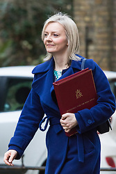 Downing Street, London, February 9th 2016.  Secretary for Environment, Food and Rural Affairs LIZ TRUSS arrives in Downing Street for the weekly cabinet meeting. ///FOR LICENCING CONTACT: paul@pauldaveycreative.co.uk TEL:+44 (0) 7966 016 296 or +44 (0) 20 8969 6875. ©2015 Paul R Davey. All rights reserved.