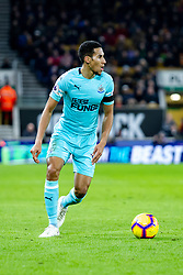 February 11, 2019 - Wolverhampton, England, United Kingdom - Isaac Hayden of Newcastle United during the Premier League match between Wolverhampton Wanderers and Newcastle United at Molineux, Wolverhampton on Monday 11th February 2019. (Credit Image: © Mi News/NurPhoto via ZUMA Press)
