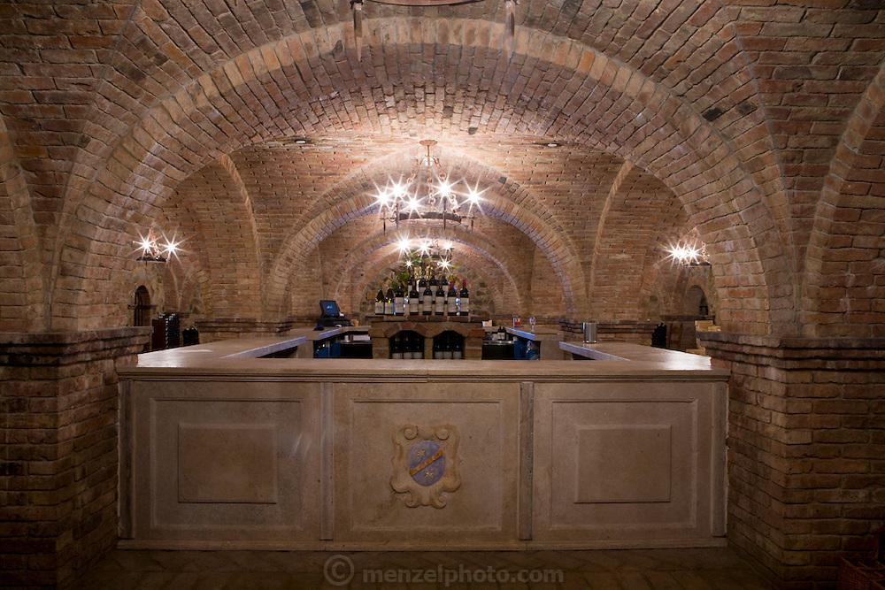 Castello di Amorosa Winery in Calistoga, Napa Valley, California. Dario Sattui's winery built to resemble a Tuscan castle.